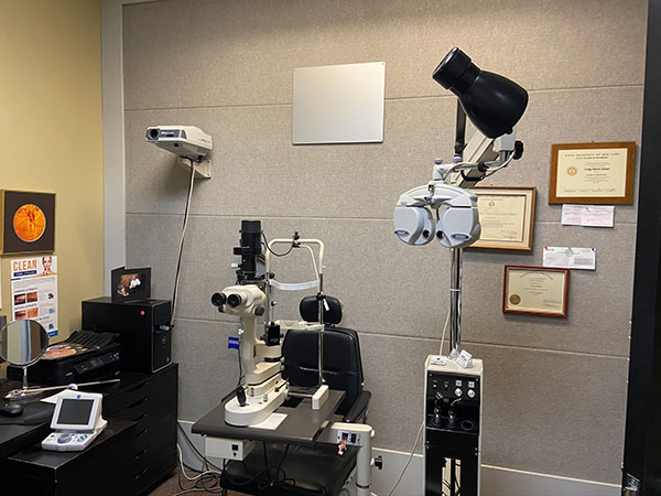 eye exam room